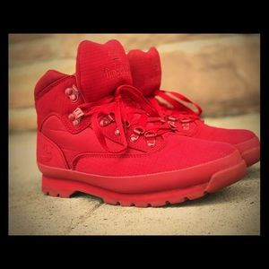Timberland RIP All Red Boot 9